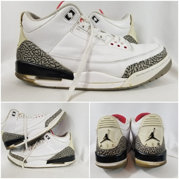 competitive price 76ae4 cfa30 Nike air jordan retro 3 white cement size 13